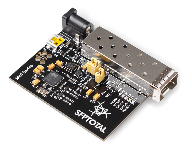 SFPTotal Mini is universal coding board for SFP, SFP+ and SFP28 transceivers